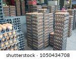 chicken eggs in market thailand. | Shutterstock . vector #1050434708