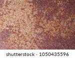 closeup rusty metal surface... | Shutterstock . vector #1050435596