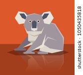 flat design koala | Shutterstock .eps vector #1050435818