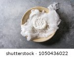 fresh homemade cottage cheese... | Shutterstock . vector #1050436022
