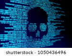 computer code on a screen with... | Shutterstock . vector #1050436496