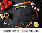 concept cook work on dark... | Shutterstock . vector #1050438836