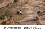 aerial view of off road car... | Shutterstock . vector #1050444122