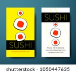 set of vertical sushi bright... | Shutterstock .eps vector #1050447635