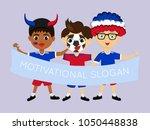 fan of liechtenstein national... | Shutterstock .eps vector #1050448838