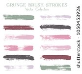 watercolor  ink or paint brush... | Shutterstock .eps vector #1050453926