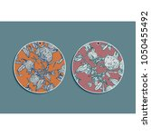 set of summer round gift tags... | Shutterstock .eps vector #1050455492