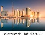 panoramic view of dubai... | Shutterstock . vector #1050457832