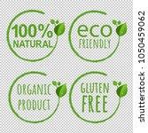 eco logo symbol transparent... | Shutterstock .eps vector #1050459062