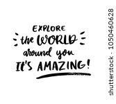 motivational lettering phrase ... | Shutterstock .eps vector #1050460628