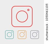 photo camera icon vector... | Shutterstock .eps vector #1050461105