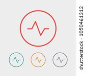 heartbeat icon vector... | Shutterstock .eps vector #1050461312