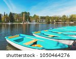 on the bank of the river berth. ...   Shutterstock . vector #1050464276