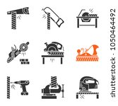 carpentry glyph icons set.... | Shutterstock .eps vector #1050464492