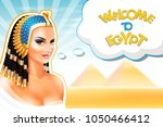 background with cleopatra... | Shutterstock .eps vector #1050466412