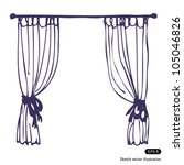 curtains | Shutterstock .eps vector #105046826