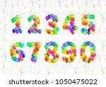 set of number symbols made up... | Shutterstock .eps vector #1050475022