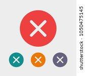 cross  close icon vector...   Shutterstock .eps vector #1050475145