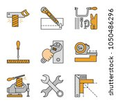construction tools color icons... | Shutterstock .eps vector #1050486296