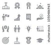 success icons. gray flat design.... | Shutterstock .eps vector #1050486965