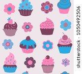 cute seamless pattern of...   Shutterstock .eps vector #1050492506