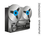 old musical tape recorder reel... | Shutterstock .eps vector #1050494342