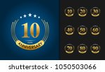 set of anniversary logotype.... | Shutterstock .eps vector #1050503066