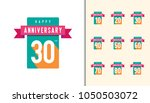 set of anniversary logotype.... | Shutterstock .eps vector #1050503072