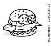 vector fish burger made from... | Shutterstock .eps vector #1050516428