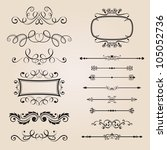 classic border ornament | Shutterstock .eps vector #105052736