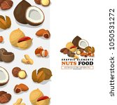 nuts and seeds pattern. flat... | Shutterstock .eps vector #1050531272