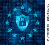 general data protection... | Shutterstock .eps vector #1050536792