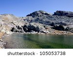 site of lakes and collar of the ... | Shutterstock . vector #105053738