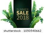 hello summer  summertime. the... | Shutterstock .eps vector #1050540662