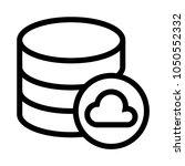 database cloud vector line icon
