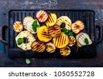 grilled fruits. grill fruits  ... | Shutterstock . vector #1050552728