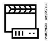 video storage vector line icon