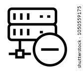 server remove vector line icon