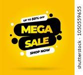sale banner template design ... | Shutterstock .eps vector #1050559655