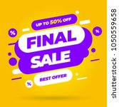 sale banner template design ... | Shutterstock .eps vector #1050559658