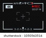 4k resolution video camera rec... | Shutterstock .eps vector #1050563516