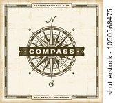 vintage compass label | Shutterstock . vector #1050568475