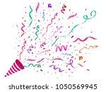vector confetti. festive... | Shutterstock .eps vector #1050569945