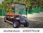 Long Golf Electric Cart At The...