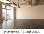 spacious empty room with... | Shutterstock . vector #1050570578