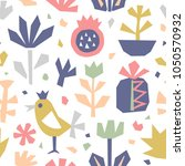 hand drawn cut paper seamless... | Shutterstock .eps vector #1050570932