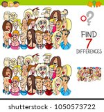 cartoon illustration of finding ... | Shutterstock .eps vector #1050573722