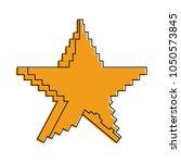 pixelated star symbol | Shutterstock .eps vector #1050573845