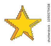 pixelated star symbol | Shutterstock .eps vector #1050575438