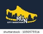 vector poster   running  sport... | Shutterstock .eps vector #1050575516